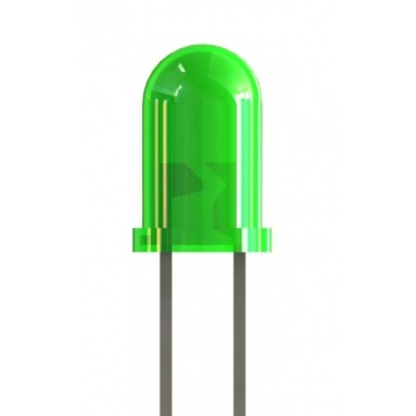 3mm Green Colored LED(pack of 5)