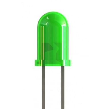 5mm Green Colored LED (pack of 5)