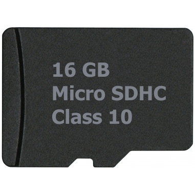 16GB microSD card with SD Adapter