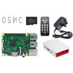 Raspberry Pi 3 Media Center Kit - White