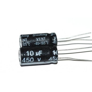 10 uF - 450 Volt Electrolytic Capacitor