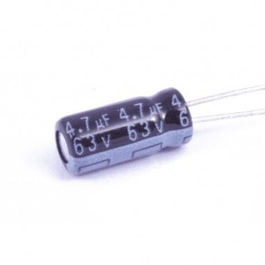 4.7uF/63v Electrolytic Capacitor