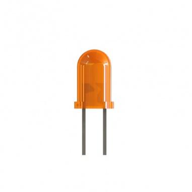 3mm Orange Colored LED(pack of 5)