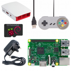 Raspberry Pi 3 Gaming Kit - White