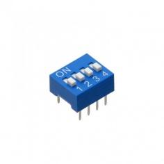 4 way DIP Switch - Blue