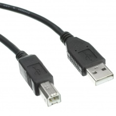 USB 2.0 A Male to B Male Cable for Arduino Boards