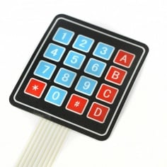 4 X 4 MATRIX ARRAY 16 KEY MEMBRANE SWITCH KEYPAD