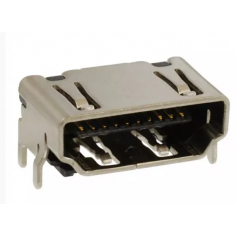 CONNECTOR RCPT HDMI TYPE A R/A SMD
