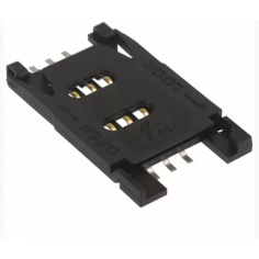 CONNECTOR SIM CARD HINGED TYPE R/A