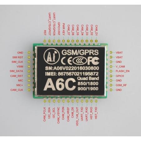 A6C GSM, GPRS Module