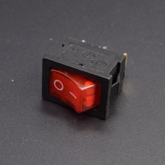 AC Mains Power Switch Rectangle: RED