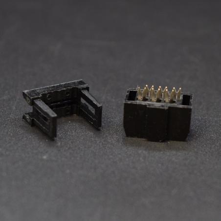 Female IDC socket: 2x3-Pin, 2.54 mm