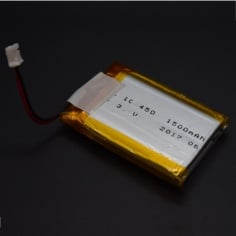 3.7v Lithium Ion (Lipo) Battery - 1500mAH 1S