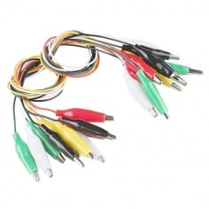 Alligator Test Leads - Multicolored (10 Pack)