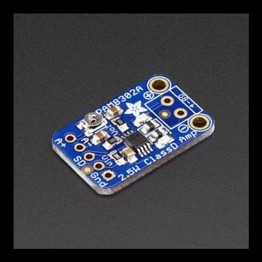 Adafruit Mono 2.5W Class D Audio Amplifier - PAM8302 Board