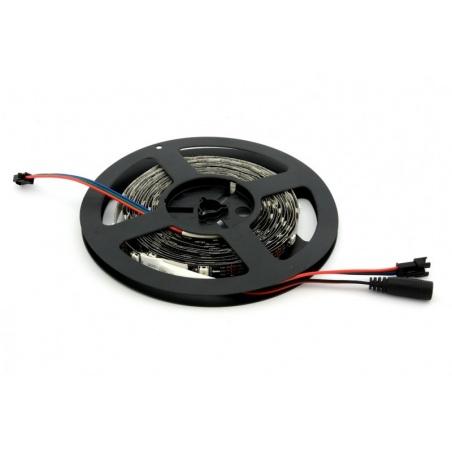 WS2812 Digital RGB LED Strip - Black- 1 Meter
