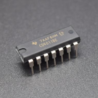 CD4011UBE, IC NAND GATE 4 - Channel