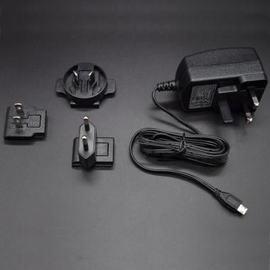 T5989DV, 5.1V, 2.5A, 13W AC/DC External Wall Mount Adapter Multi-Blade Input