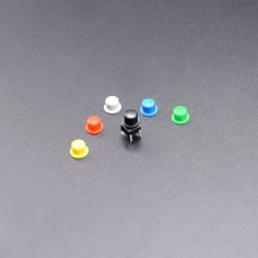 Tactile Switch: 7mm with plastic Cap (Pack of 6)