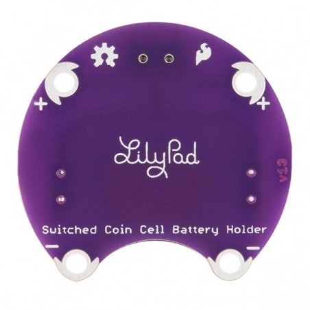 LilyPad Coin Cell Battery Holder - Switched - 20mm: DEV-13883