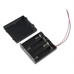 Battery Holder 4xAA with Cover and Switch: PRT-12083