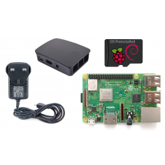 Edwin Robotics Raspberry Pi 3 Model B+ Starter Kit - Black