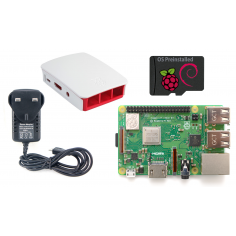 Edwin Robotics Raspberry Pi 3 Model B+ Starter Kit - White