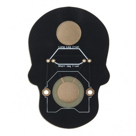 Day of the Geek - Soldering Badge Kit (Black): KIT-14637