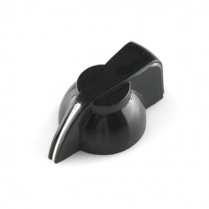 Black Chicken Head Knob - 14x20mm: COM-10000