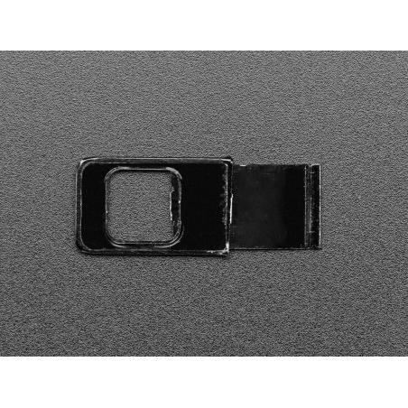 Black Miniature Metal Webcam Cover