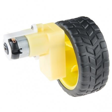 Wheel - 65mm (Rubber Tire, Pair)  ROB-13259