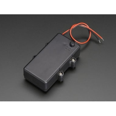 Waterproof 2xAA Battery Holder with On/Off Switch