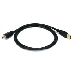 USB 2.0 A Male to B Male Cable - (Gold Plated)