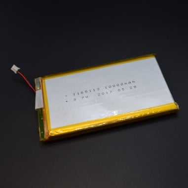3.7v Lithium Ion (Lipo) Battery - 10000mAH 1S