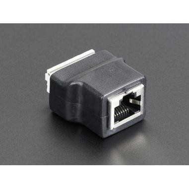 Ethernet RJ45 Female Socket Push-Terminal Block