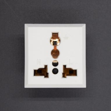 3 pin Universal Electrical Power Socket - White