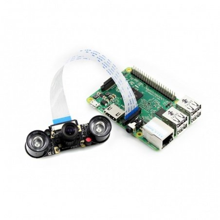 Night Vision Camera with Adjustable Focus for Raspberry Pi