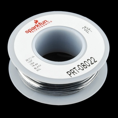 Hook-up Wire - Black (22 AWG)  PRT-08022