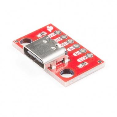 SparkFun USB-C Breakout 15  BOB-15100