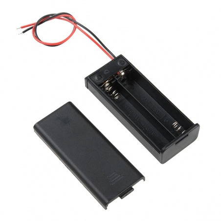 Battery Holder - 2xAAA with Cover and Switch PRT-14219
