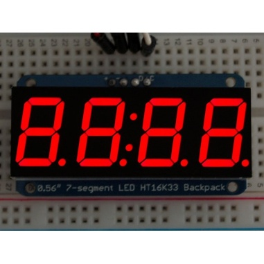 Adafruit 0.56 4-Digit 7-Segment Display wI2C Backpack - Red