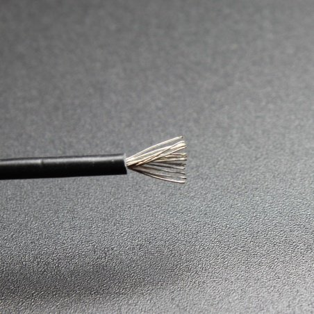 20 AWG 1M BLACK Silicone Cable – Multi stranded