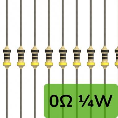 0 ohm 0.25W resistor