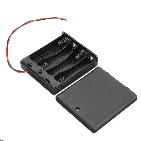 4x AA Battery Holder with Switch