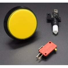 Medium Sized Flat Arcade button with LED Backlight