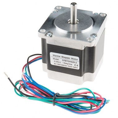 Stepper Motor - 125 oz.in (200 steps/rev, 600mm Wire)