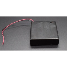 Enclosed 4 - AA Battery Holder with Switch