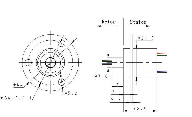MSC-22-0210A Slip ring Dimensions