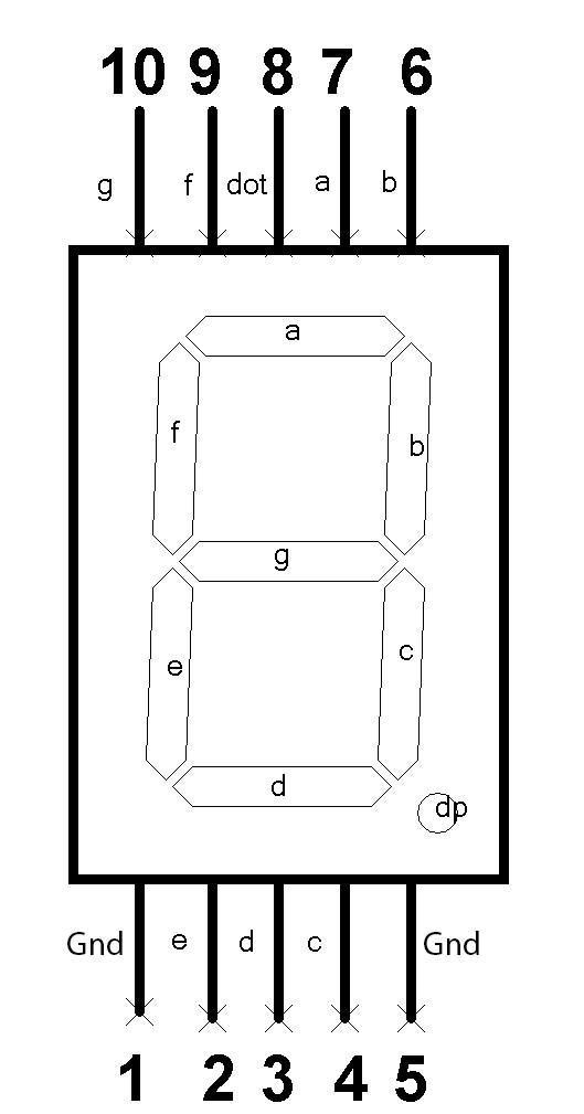 Buy Common Anode   Common Cathode Large 7 Segment Display